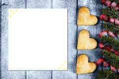 Fond pour la carte de voeux de Noël Photographie stock libre de droits