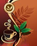 Fond pour la conception - thé noir Image stock