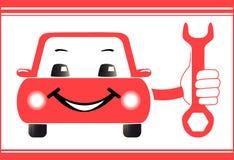 Fond pour la station service automatique avec la main de voiture  illustration stock