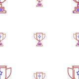 Fond pour la tasse de trophée de gagnant Images stock