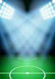 Fond pour le football du football de nuit d'affiches illustration stock