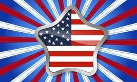 Fond pour le 4 juillet Photo libre de droits