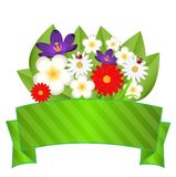 Fond pour une conception avec de belles fleurs Photographie stock