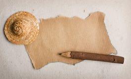 Fond pour une inscription. Un sable de papier pas. Photographie stock