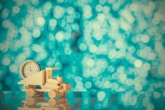 Fond pour votre conception Le camion en bois nous amène le nouveau YE Photo stock