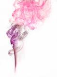 Fond pourpré rose de fumée Photographie stock
