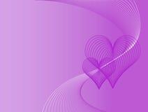 Fond pourpre d'amour Illustration Libre de Droits