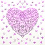 Fond pourpre de coeur d'amour Illustration de couleur pourpre illustration stock