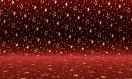 Fond pourpre de velours avec des étoiles d'or Texture colorée illustration libre de droits
