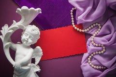 Fond pourpre et lilas de vintage Image libre de droits