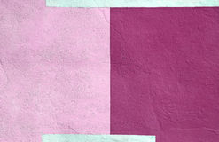Fond pourpre rose multicolore coloré de peinture de mur Images libres de droits