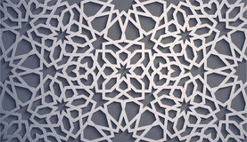 Fond pourpre Vecteur islamique d'ornement, motiff persan éléments ronds islamiques de modèle de 3d Ramadan géométrique Photographie stock