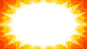 Fond promotionnel instantané de starburst de vente d'été dans des couleurs de rayon de soleil illustration de vecteur