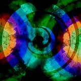 Fond psychédélique abstrait de couleurs foncées Image libre de droits