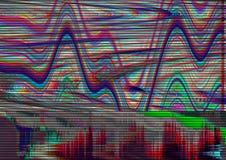Fond psychédélique de problème Vieille erreur d'écran de TV Conception d'abrégé sur bruit de pixel de Digital Problème de photo S Image libre de droits
