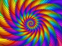Fond psychédélique de spirale d'arc-en-ciel Images stock