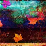 Fond psychédélique grunge d'automne Photo libre de droits