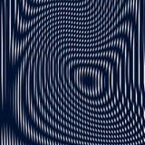 Fond psychédélique rayé avec les lignes noires et blanches de moirage Images stock