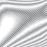 Fond psychédélique rayé avec les lignes noires et blanches de moirage Image stock