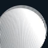 Fond psychédélique rayé avec les lignes noires et blanches de moirage Photographie stock