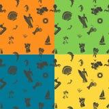 Fond quatre dans différentes couleurs Images stock