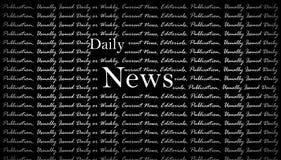 Fond quotidien d'actualités Photographie stock