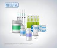 Fond réaliste de fournitures médicales Photo libre de droits