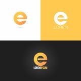 Fond réglé d'icône de conception de logo de la lettre E illustration libre de droits