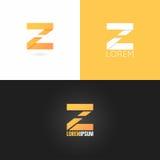 Fond réglé d'icône de conception de logo de la lettre Z illustration de vecteur