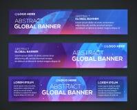 Fond réglé de bannière d'affaires avec le globe Photo stock