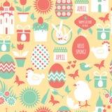 Fond réglé de Pâques Photo stock