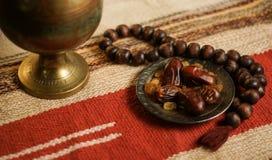 Fond réglé de photo traditionnelle de l'Islam de Ramadan Photographie stock