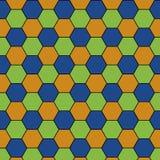 Fond régulier coloré d'abrégé sur hexagone Images libres de droits