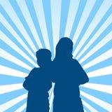 Fond régulier de silhouette de gosses Photos stock