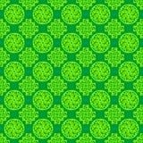 Fond répétitif sans couture vert arabe, islamique, oriental, ornemental coloré de texture de modèle Illustration de dessin de vec Photographie stock libre de droits