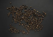 Fond rôti de grains de café photographie stock