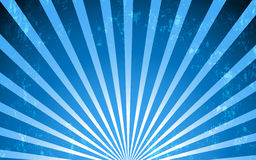 Fond radial bleu de style de vintage de vecteur Photos libres de droits