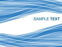 Fond rayé abstrait dans des sons bleus Photo libre de droits