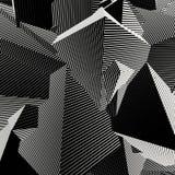 Fond rayé abstrait de forme en noir et blanc Photos libres de droits
