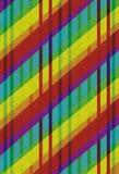 Fond rayé coloré avec la grunge Photo libre de droits