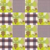 Fond rayé d'automne d'ornement sans couture de modèle de patchwork Image stock