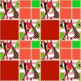 Fond rayé d'ornement sans couture de modèle de patchwork Photo stock