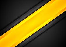 Fond rayé de contraste noir et orange illustration de vecteur