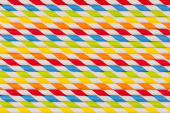 Fond rayé géométrique d'arc-en-ciel multicolore abstrait de paille de boisson photo libre de droits