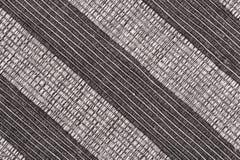 Fond rayé noir et blanc de tissu Image libre de droits