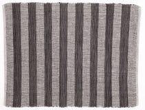 Fond rayé noir et blanc de tissu Images libres de droits