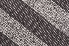 Fond rayé noir et blanc de tissu Photos stock