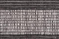 Fond rayé noir et blanc de tissu Image stock