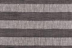 Fond rayé noir et blanc de tissu Photographie stock