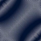 Fond rayé par résumé, style d'illusion optique Lignes chaotiques Images stock